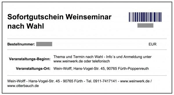 Gutschein Weinseminar nach Wahl EUR 54 (pdf Download)