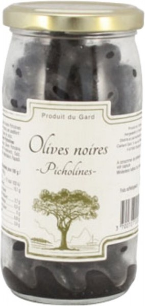 Schwarze Oliven Picholine