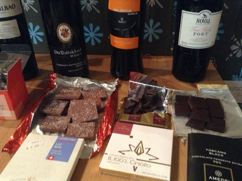 """Gutschein - """"Schokolade & Wein""""-Tasting"""