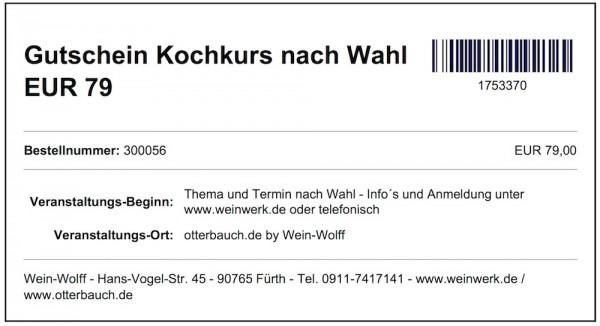 Gutschein Kochkurs nach Wahl EUR 79 (pdf Download)