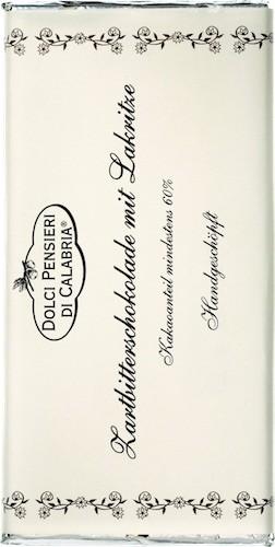 Zartbitterschokolade mit Lakritze aus Rossano