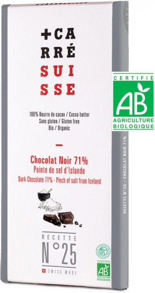 BIO Zartbitterschokolade 71% mit Island Salz