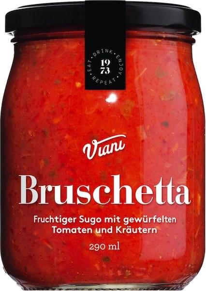 Bruschetta-Tomatensauce mit gewürfelten Tomaten