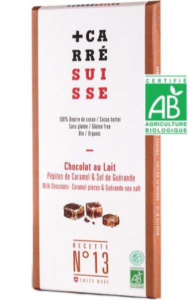 Milchschokolade mit Karamellsplittern und Salz aus Guerande.
